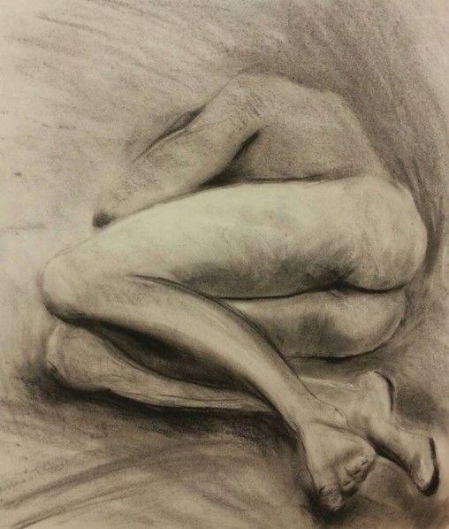 Keiran charcoal study