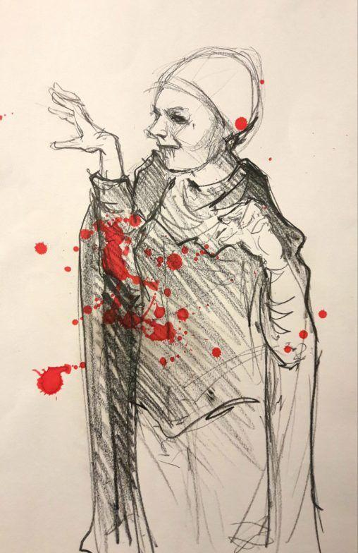 Dr Sketchy's Stephen King night! Dracula from Salem's Lot.