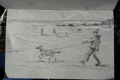 Taking human for a walk! Widemouth Bay