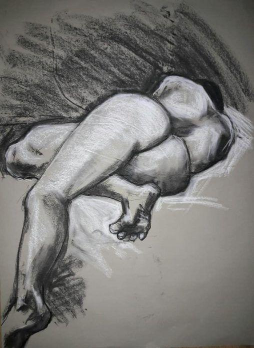 Half-hour study in charcoal and chalk. A1