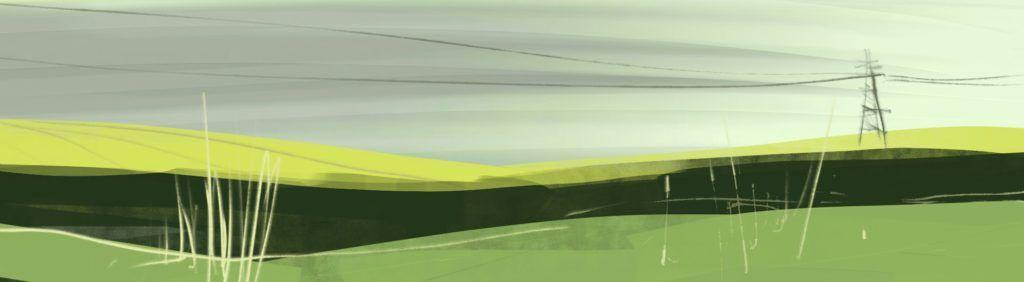 Barton le Willows. Digital sketch on tablet