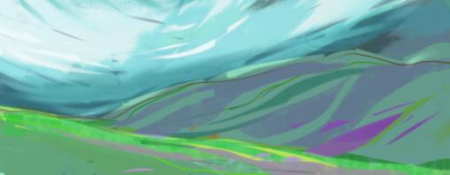 Vale Down, Dartmoor. Digital sketch on tablet