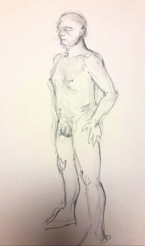 Martin standing. 5-minute graphite study