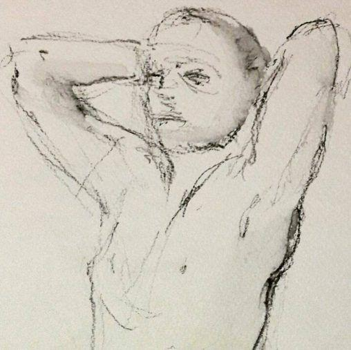Martin stretching. 3 minute graphite study