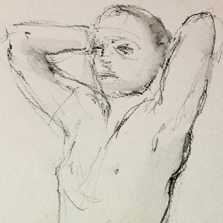 Martin stretching. 3 minute graphite study