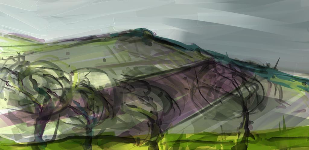 Near Vixen Tor, Dartmoor. Digital sketch on tablet