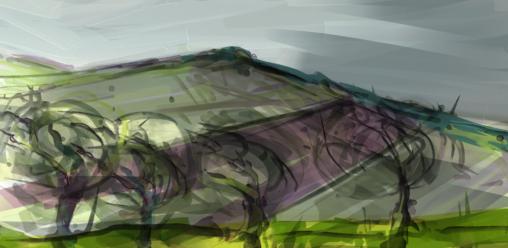 Near Vixen Tor, digital sketch on tablet