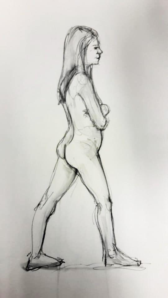 Rae striding. 5-minute study