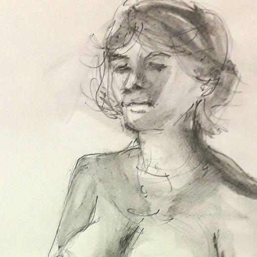 Sarah. 10-minute graphite study