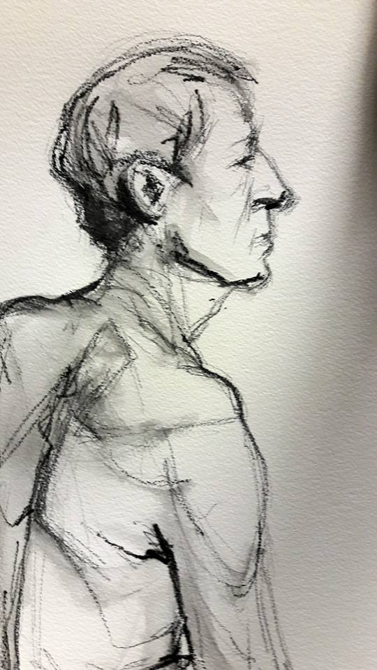 Stephen. 10-minute graphite study