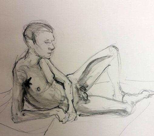 Stephen reclined. Graphite