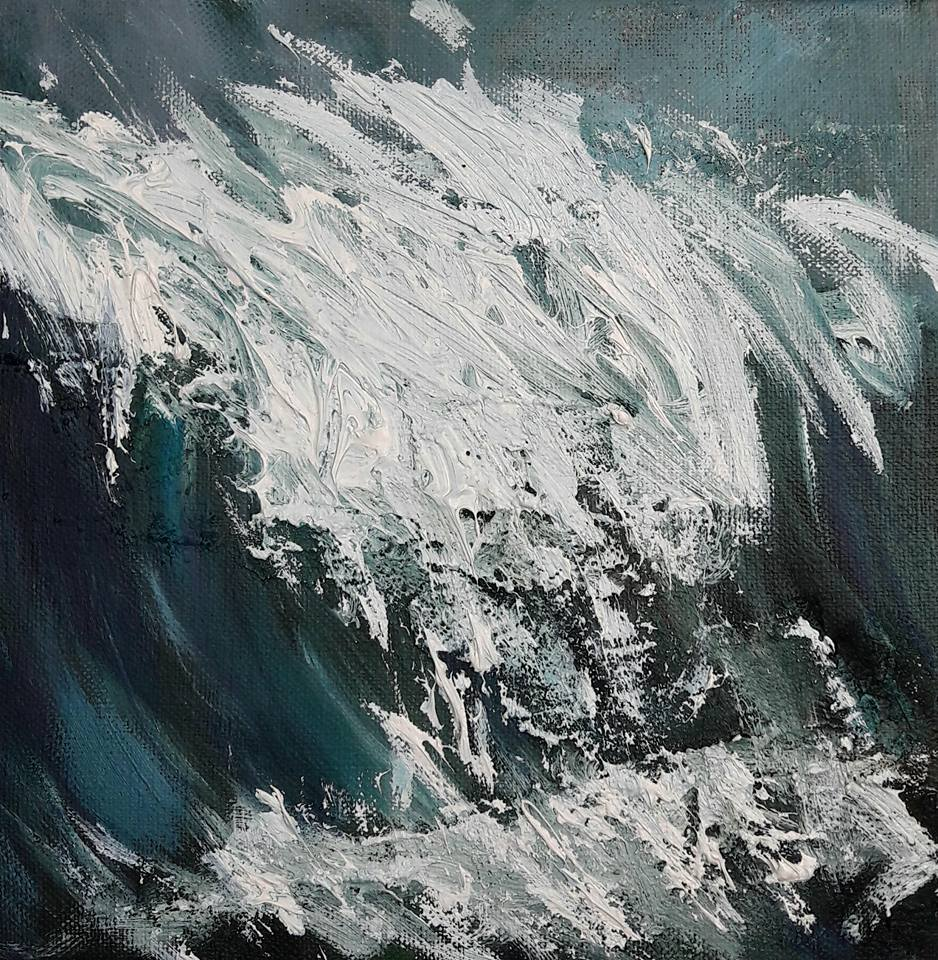 Spindrift III. Oil on canvas