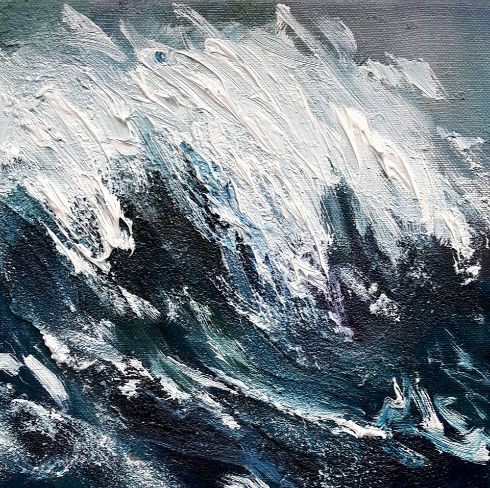 Spindrift II. Oil on canvas