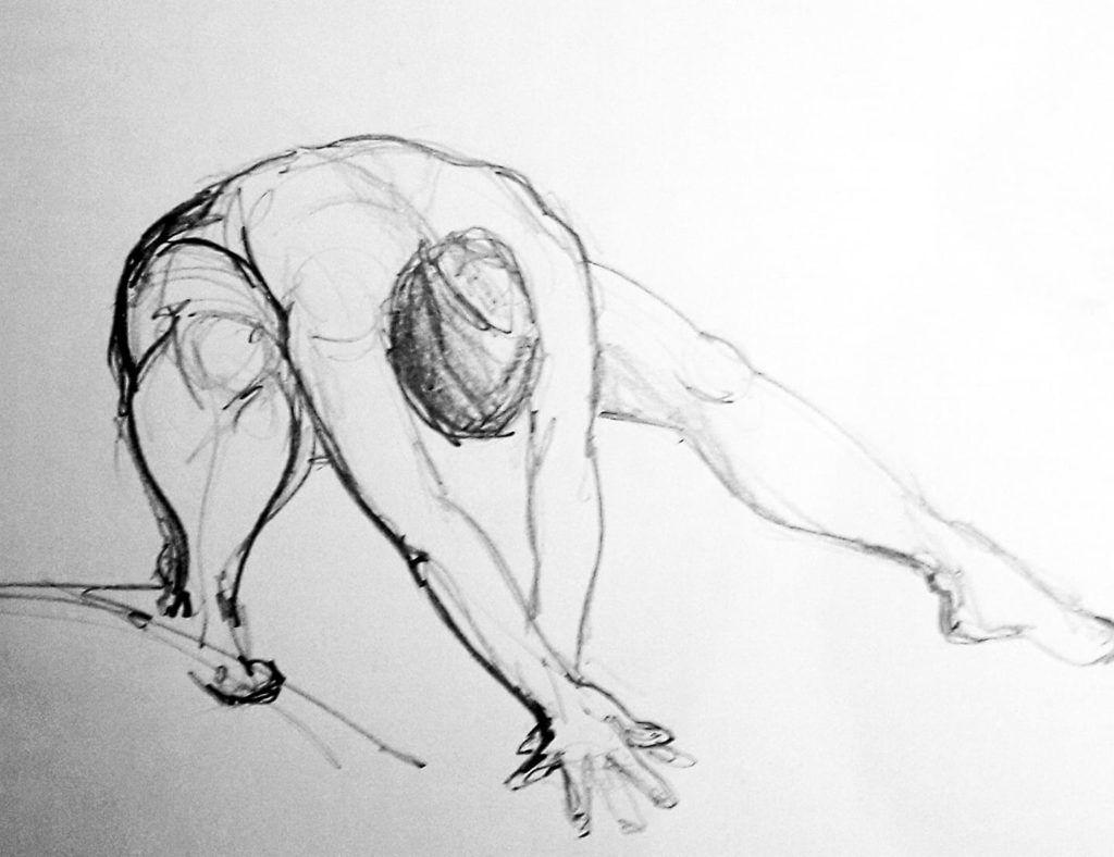Quick 5-minute study in graphite. Love this pose!