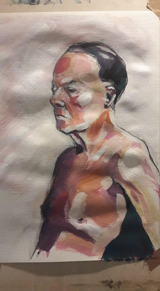 Martin. 1-hour acrylic study