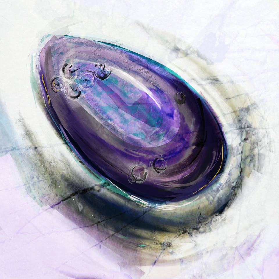Mussel. Digital sketch