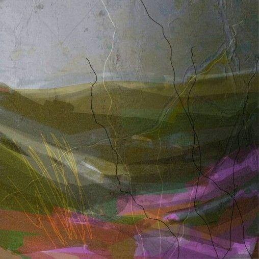 dartmoor, landscape, digital, sketch, colour, heather