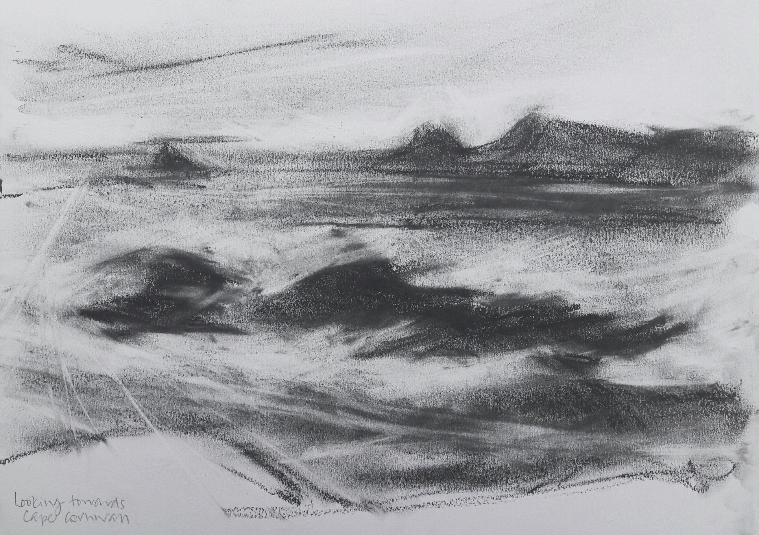 Towards Cape Cornwall. Graphite