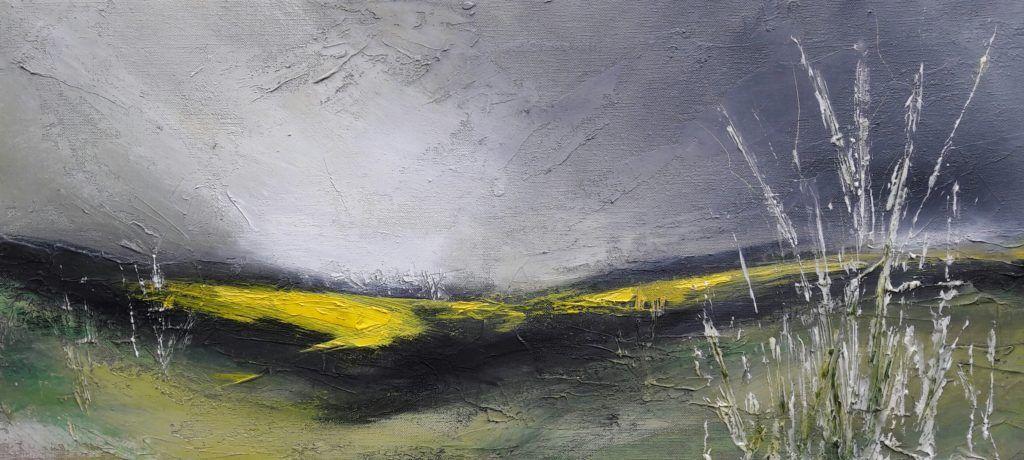 Barton le Willows mixed media on canvas