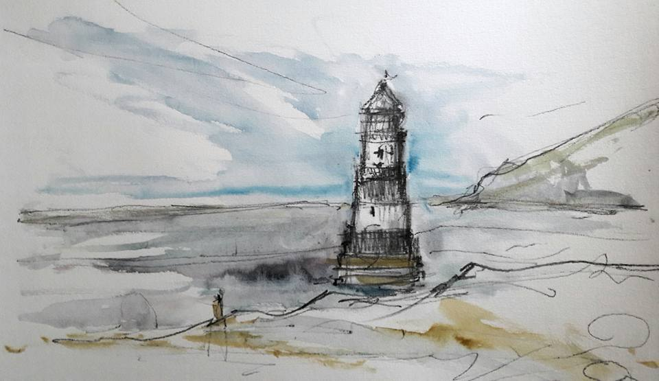 Penmon Lighthouse, Anglesey. Detail sketch