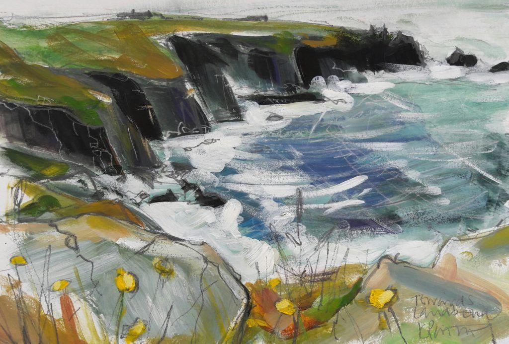 Plein air painting looking towards Lands End. It was very windy and I had to hang on to everything, but it was fun!
