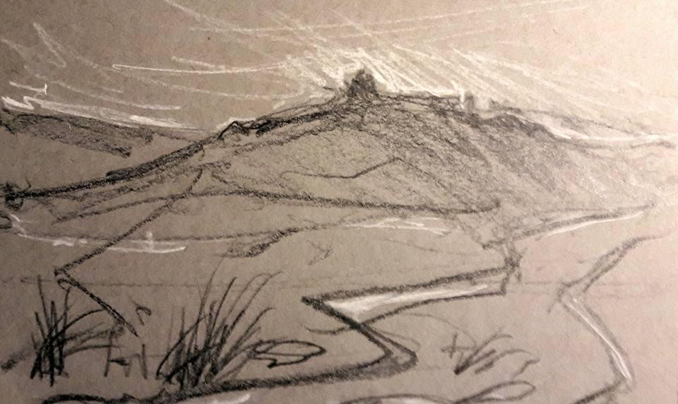Near Vixen Tor, Dartmoor. Wet tracks