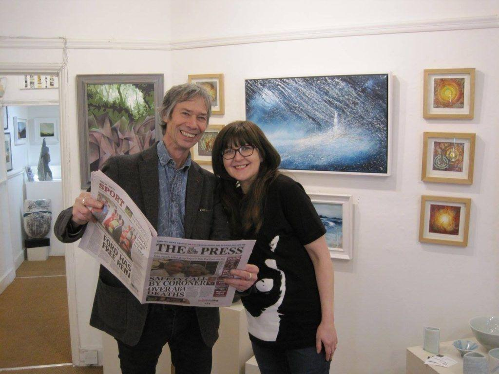 Terry Brett (Pyramid Gallery) and Anna Harding (Artist) did a great job of hanging the exhibition. Thank you!