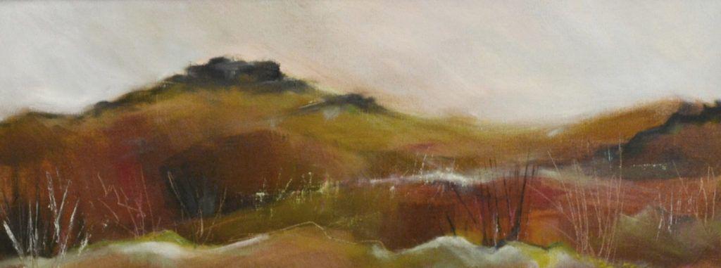 Winter Moor. Oil on canvas