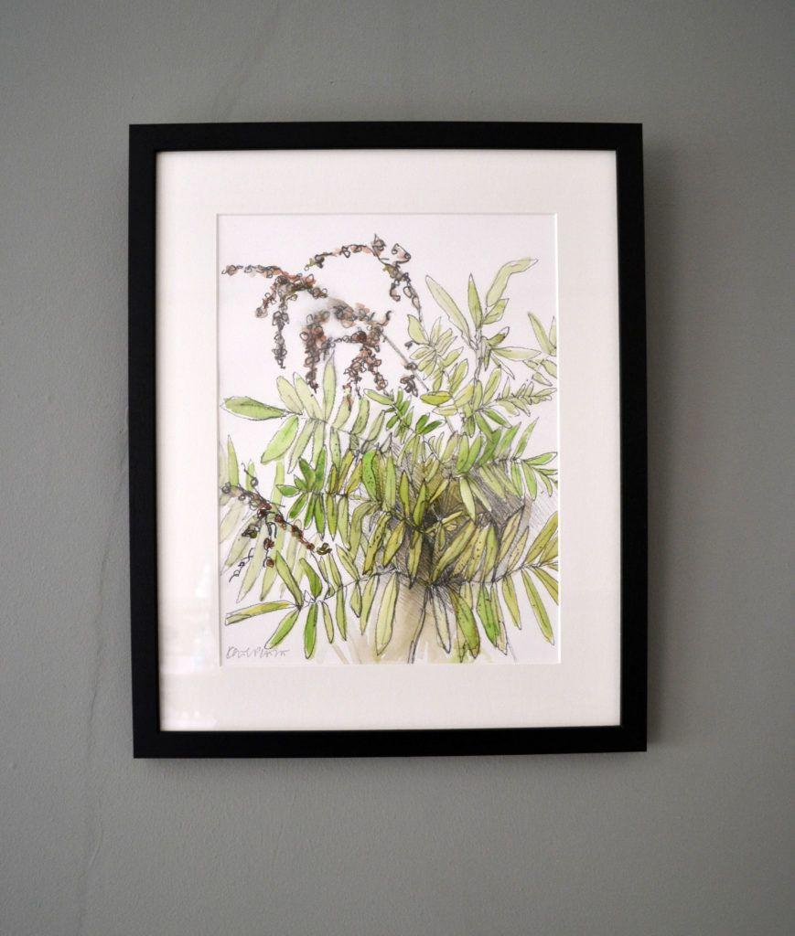 Royal Fern. Original graphite and watercolour on acid-free Bockingford paper