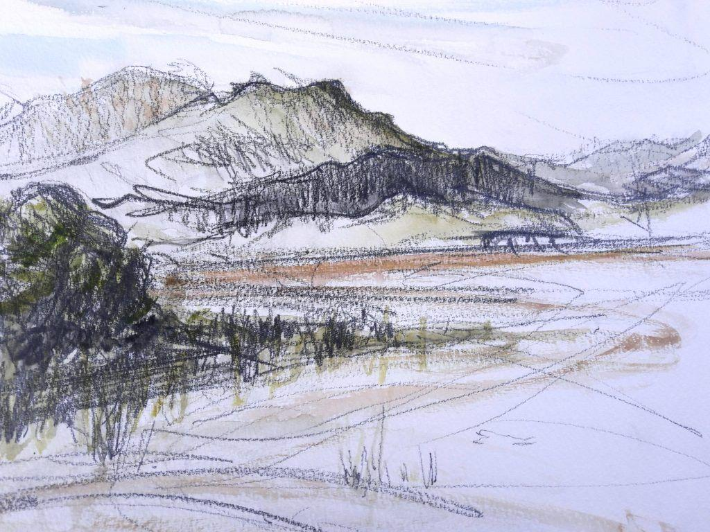 View towards Talsarnau from Ynis Gifftan at low tide