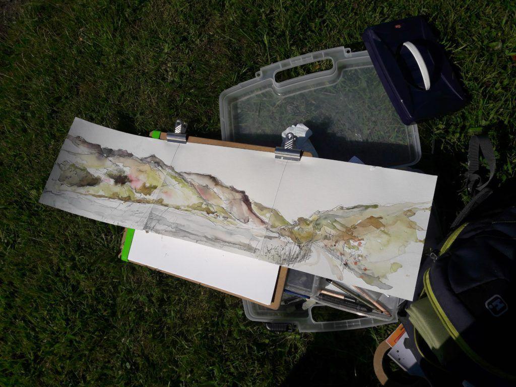 Commission studies of Cadir Idris range from Tal y Llyn