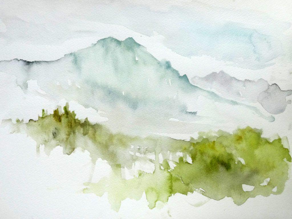 Hot weather haze. Colour study.