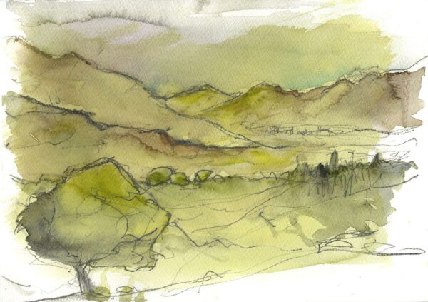 In the Hills giclee print