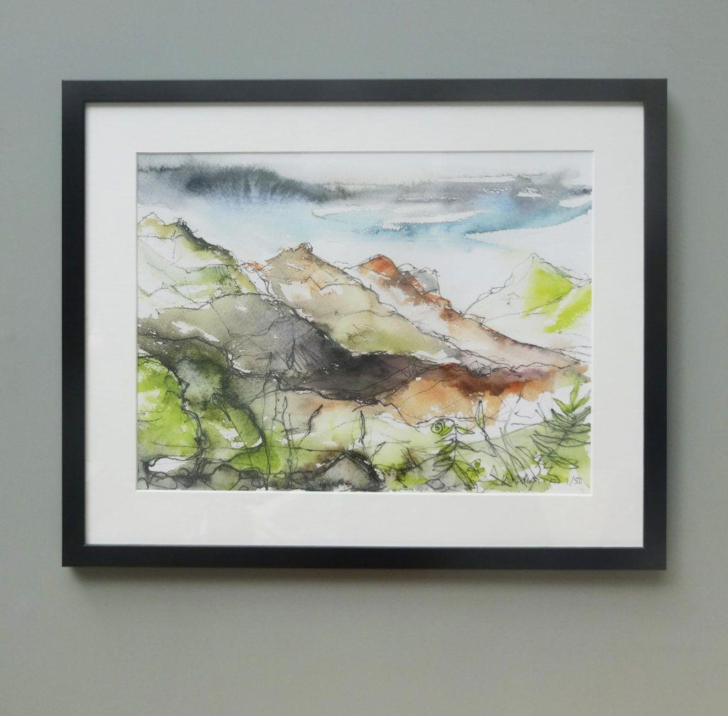 After the Rain shown with a mount in a 500 x 400 mm off-the-shelf frame