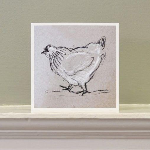 'Chicken with attitude' art card