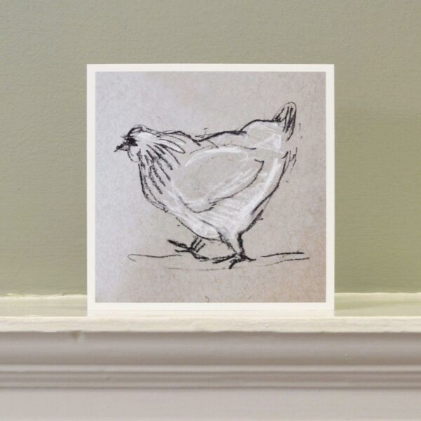 'Chicken with attitude' art card