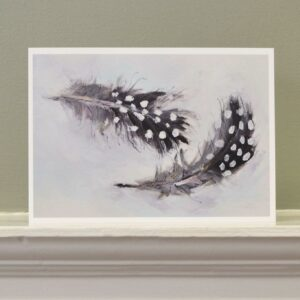 'Guinea fowl feathers' art card