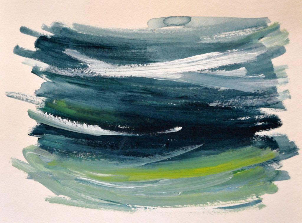 Quick sea colours study - early morning.