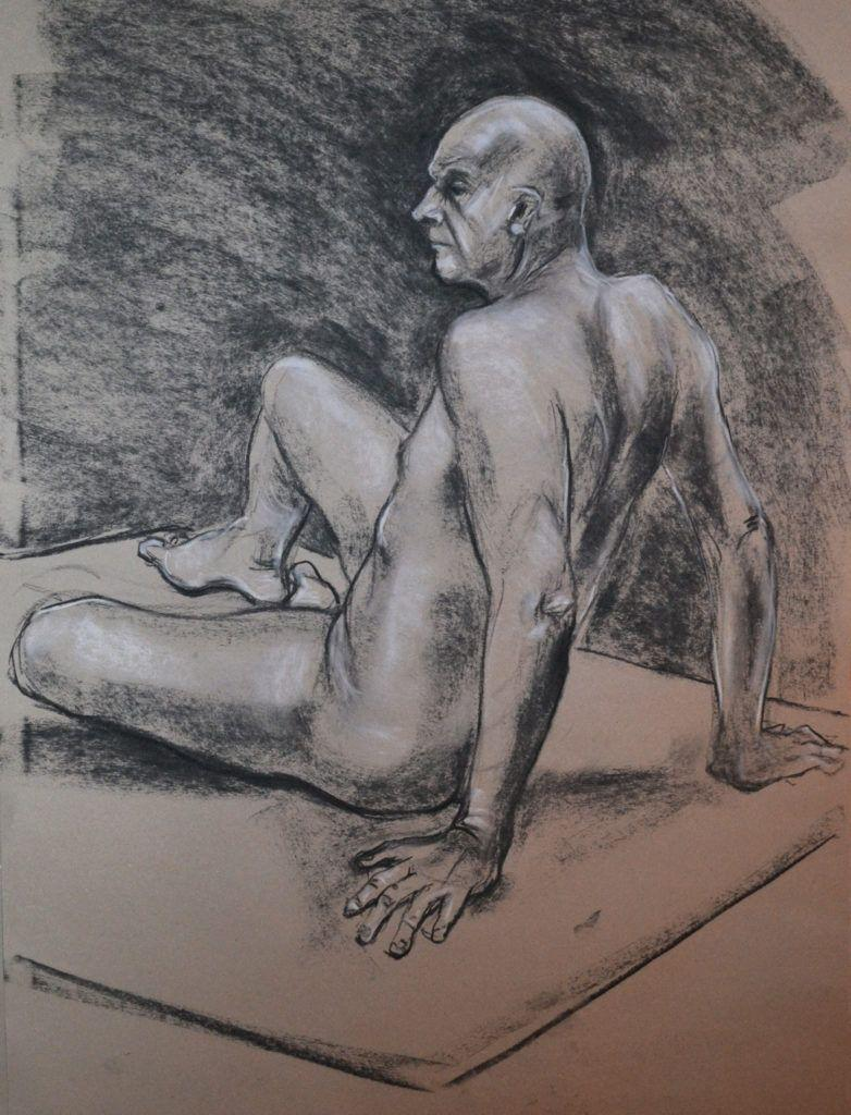 Dave. 40-minute study in charcoal and chalk