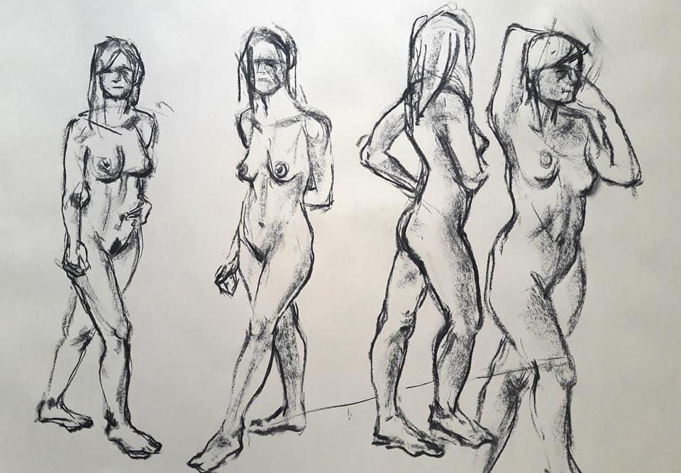 5-minute studies in charcoal
