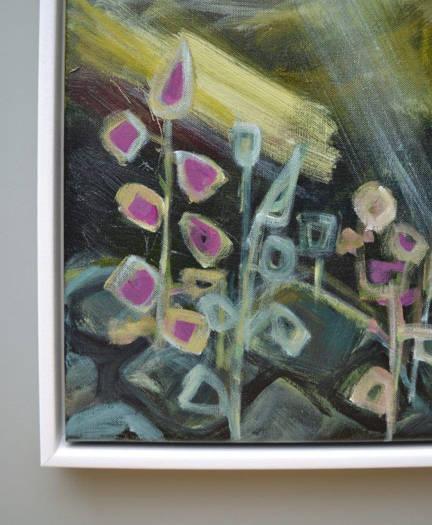 Foxgloves in the Wall, detail