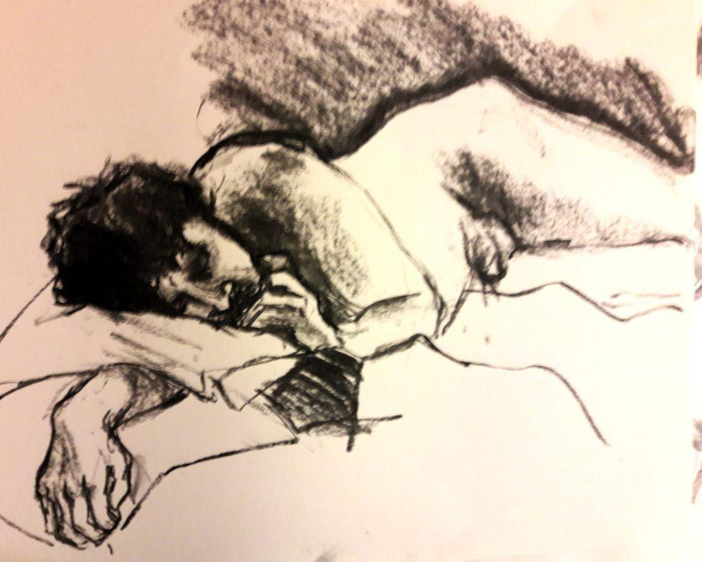 Ed. 10-minute study in charcoal