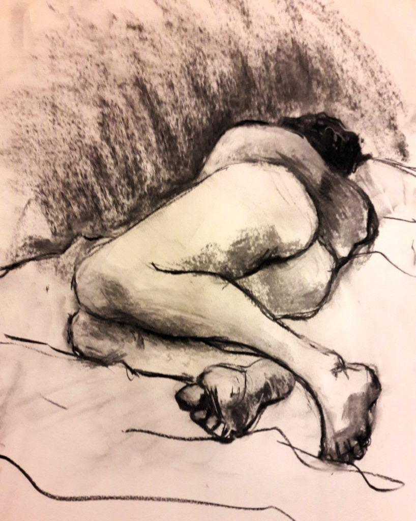 Ed. 20-minute study in charcoal and chalk