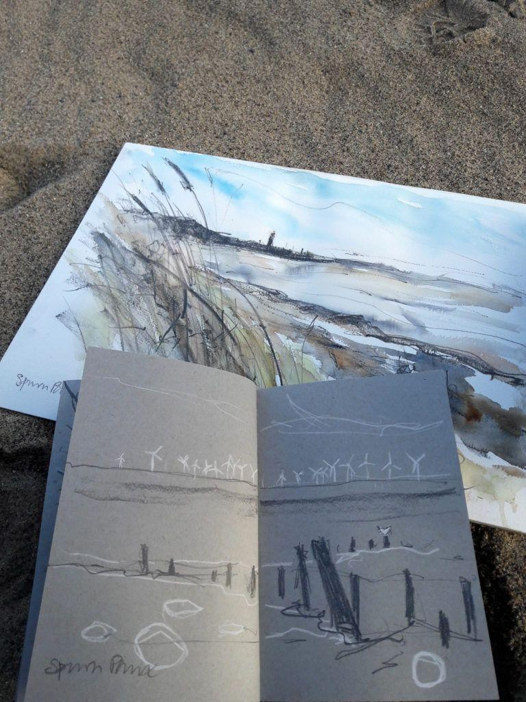 Sketching at Spurn Point