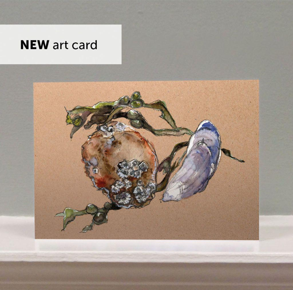 'Beach Treasures' art card