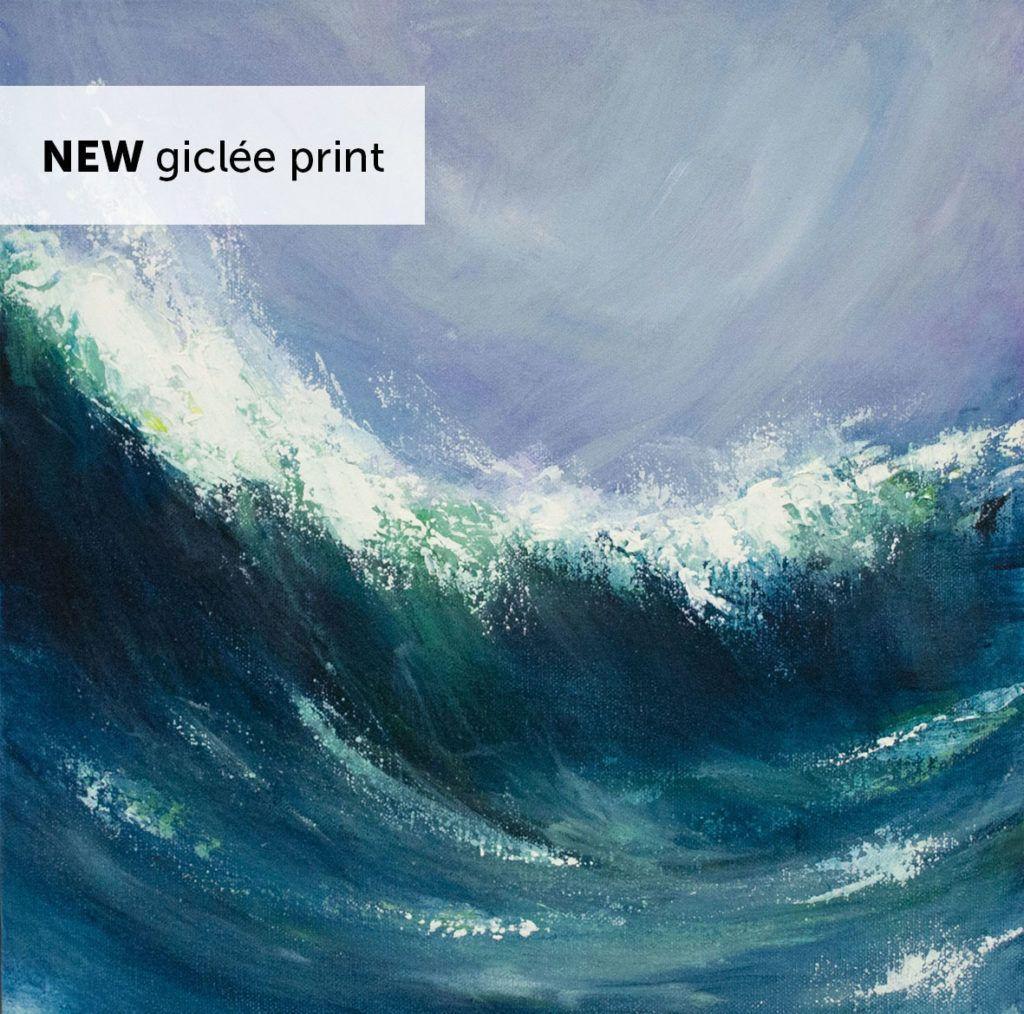 'Sennen Wave' giclée print