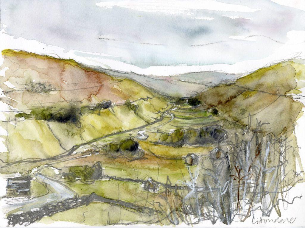Littondale – work on paper and inspiration for the larger painting