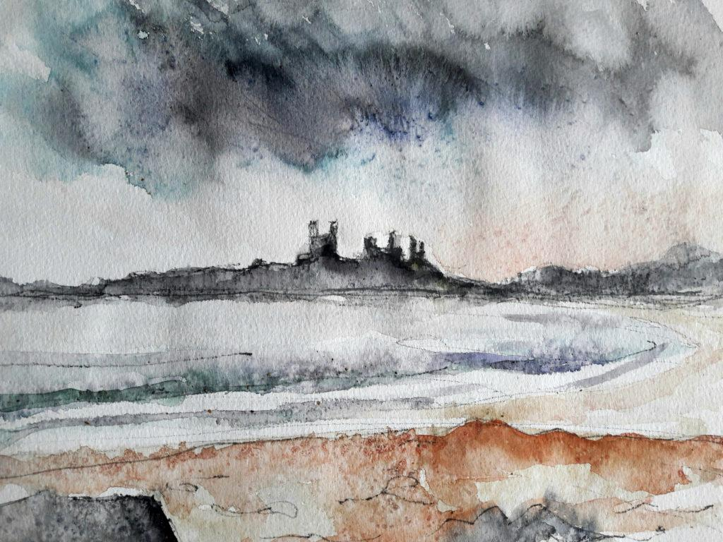 I love the life that watercolours have – you can control them to a point, but the magic happens when they are aloud to make their own marks.
