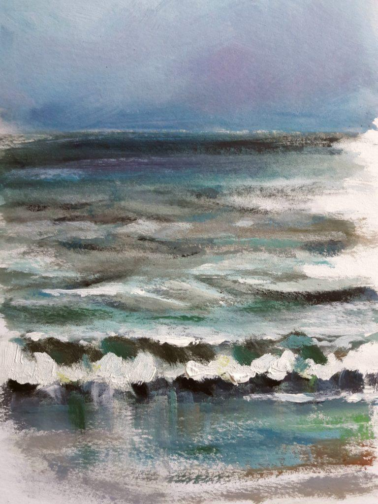 Study of sea colours and reflection.