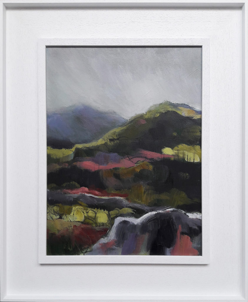 Pink Hills in a white wood St Ives frame